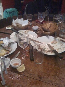 After oysters