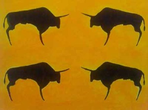 bulls_confronting